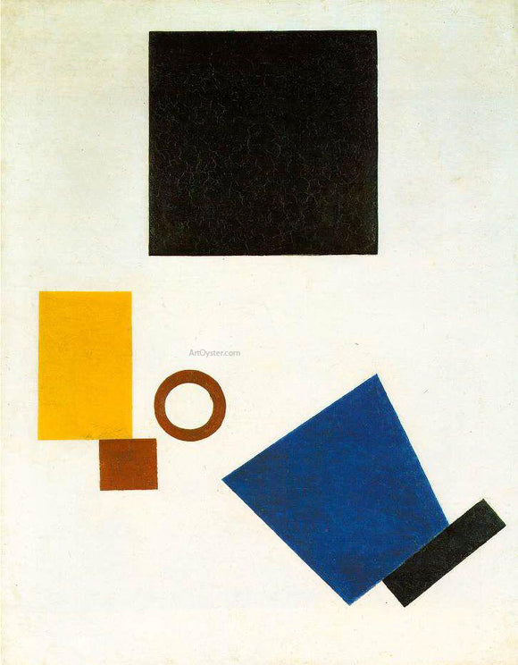 Kazimir Malevich Suprematism Self Portrait in Two Dimensions - Canvas Art Print
