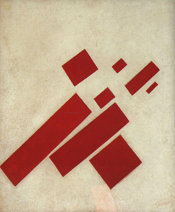 Kazimir Malevich Suprematism with Eight Rectangles - Canvas Art Print