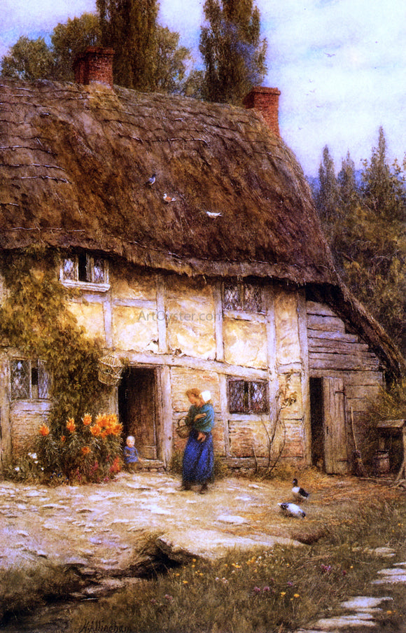 Helen Allingham A Surrey Farmhouse - Canvas Art Print