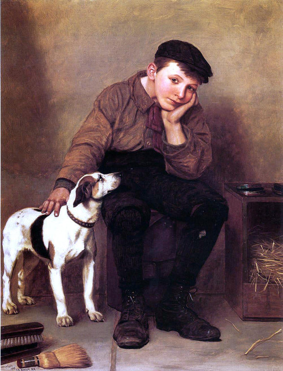 John George Brown Sympathy - Canvas Art Print
