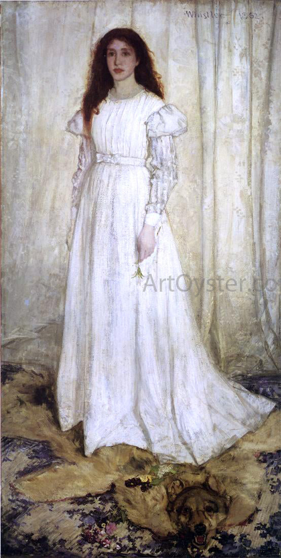 James McNeill Whistler Symphony in White, No. 1: The White Girl - Canvas Art Print