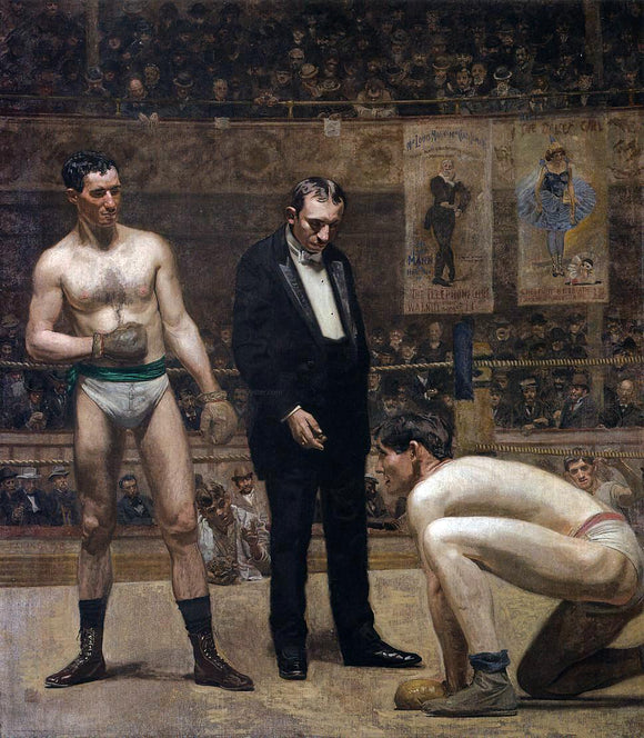 Thomas Eakins Taking the Count - Canvas Art Print