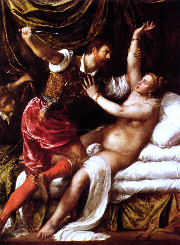 Titian Tarquin and Lucretia - Canvas Art Print