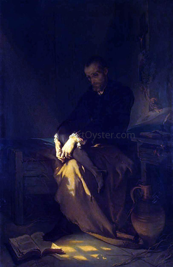 Louis Gallait Tasso in the Prison - Canvas Art Print