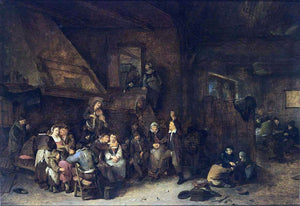 Cornelis Bega Tavern Interior - Canvas Art Print