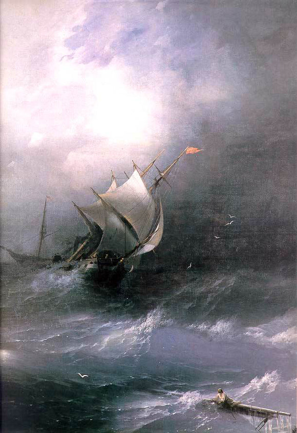 Ivan Constantinovich Aivazovsky Tempest on Ice Ocean - Canvas Art Print