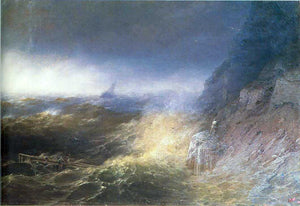 Ivan Constantinovich Aivazovsky Tempest on the Black Sea - Canvas Art Print