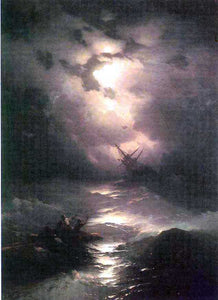 Ivan Constantinovich Aivazovsky Tempest on the Northern Sea - Canvas Art Print