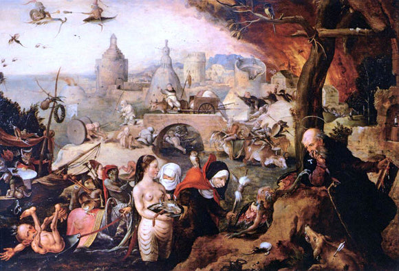 Pieter Huys Temptation of St Anthony - Canvas Art Print