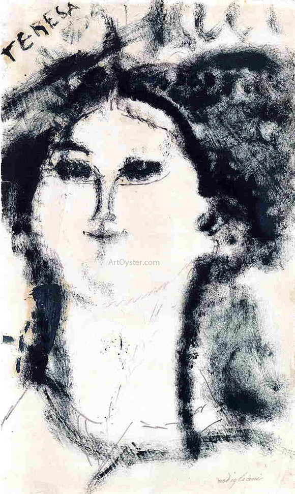 Amedeo Modigliani Teresa - Canvas Art Print