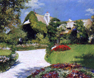 Gustave Caillebotte Thatched Cottage at Trouville - Canvas Art Print