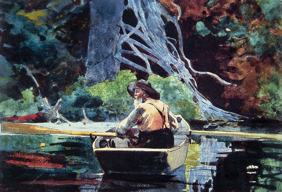 Winslow Homer The Adirondack Guide - Canvas Art Print
