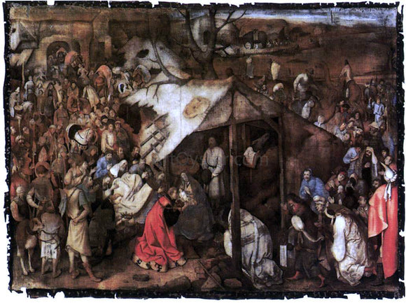 The Elder Pieter Bruegel The Adoration of the Kings - Canvas Art Print