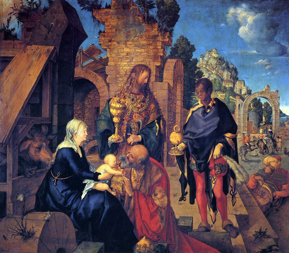 Albrecht Durer The Adoration of the Magi - Canvas Art Print