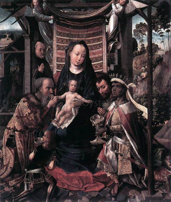 Colijn De Coter The Adoration of the Magi - Canvas Art Print