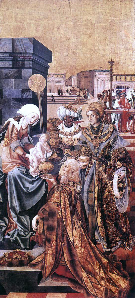 Master M S The Adoration of the Magi - Canvas Art Print