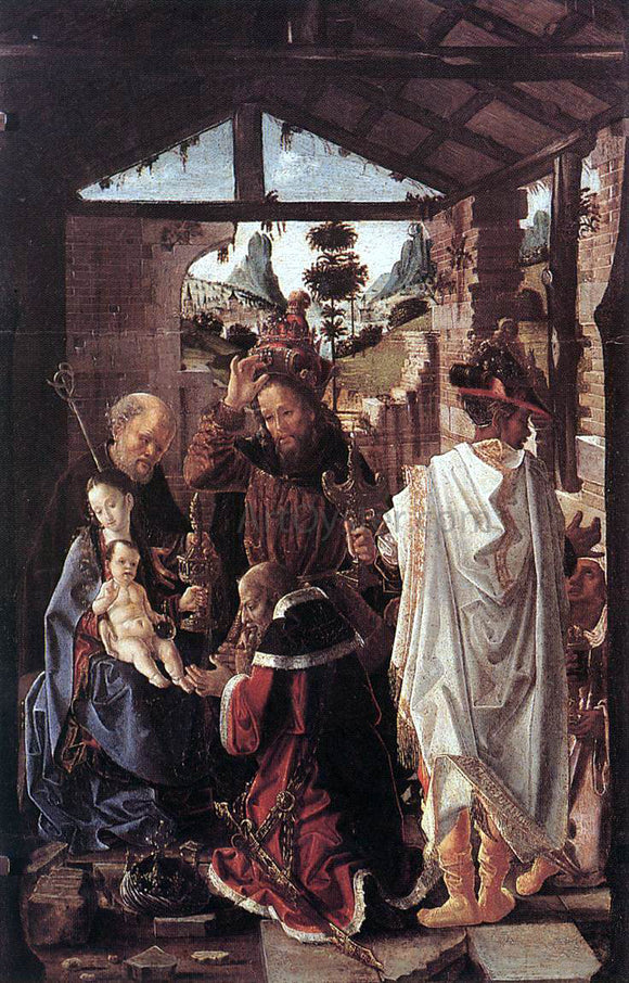 Unknown Painters Masters The Adoration of the Magi - Canvas Art Print