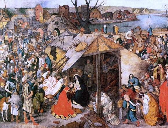 The Younger Pieter Bruegel The Adoration of the Magi - Canvas Art Print