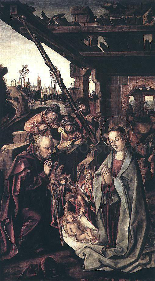 The Younger Rodrigo De  Osona The Adoration of the Shepherds - Canvas Art Print
