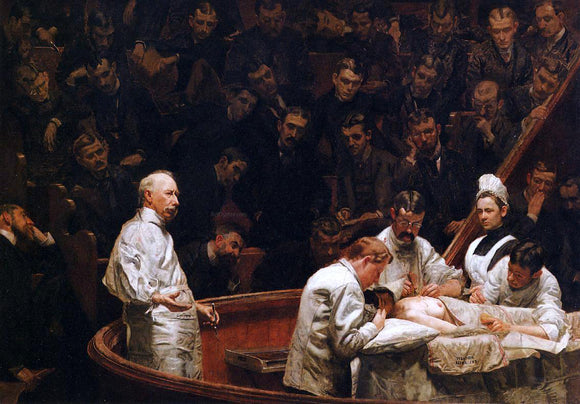 Thomas Eakins The Agnew Clinic - Canvas Art Print