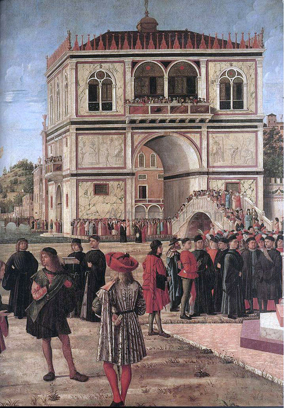 Vittore Carpaccio The Ambassadors Return to the English Court [detail: 1] - Canvas Art Print