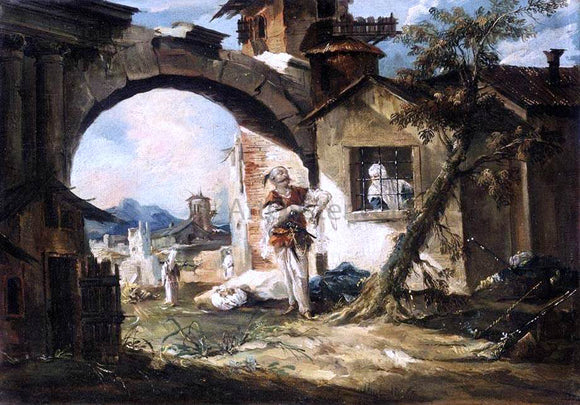 Giovanni Antonio Guardi The Amorous Turk - Canvas Art Print