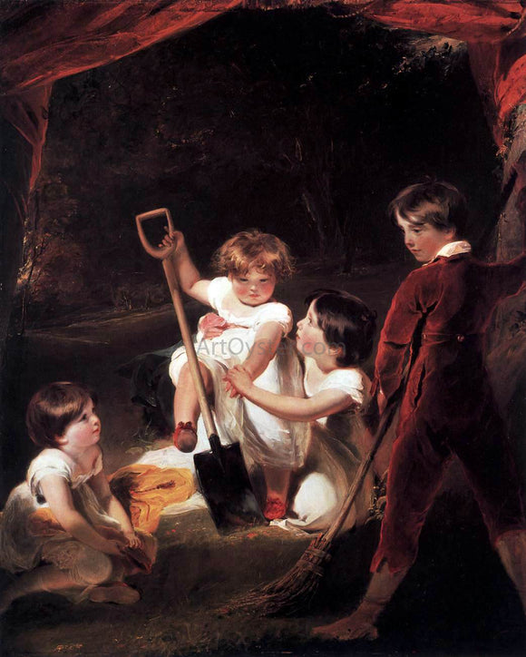 Sir Thomas Lawrence The Angerstein Children - Canvas Art Print