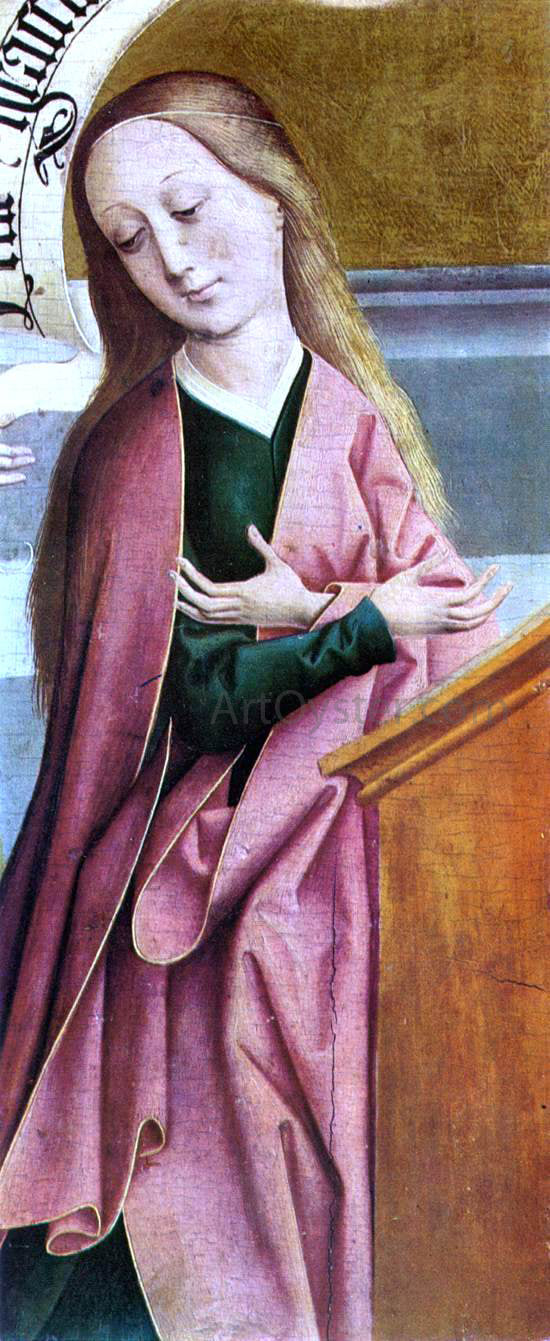 The Elder Rueland Frueauf The Annunciation (detail) - Canvas Art Print