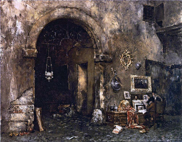 William Merritt Chase The Antiquary Shop - Canvas Art Print