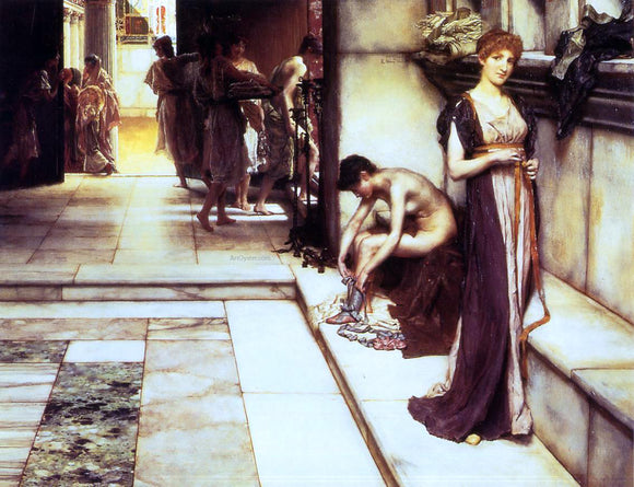 Sir Lawrence Alma-Tadema The Apodyterium - Canvas Art Print