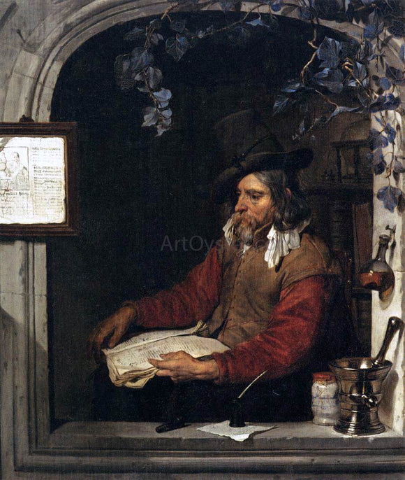 Gabriel Metsu The Apothecary (The Chemist) - Canvas Art Print