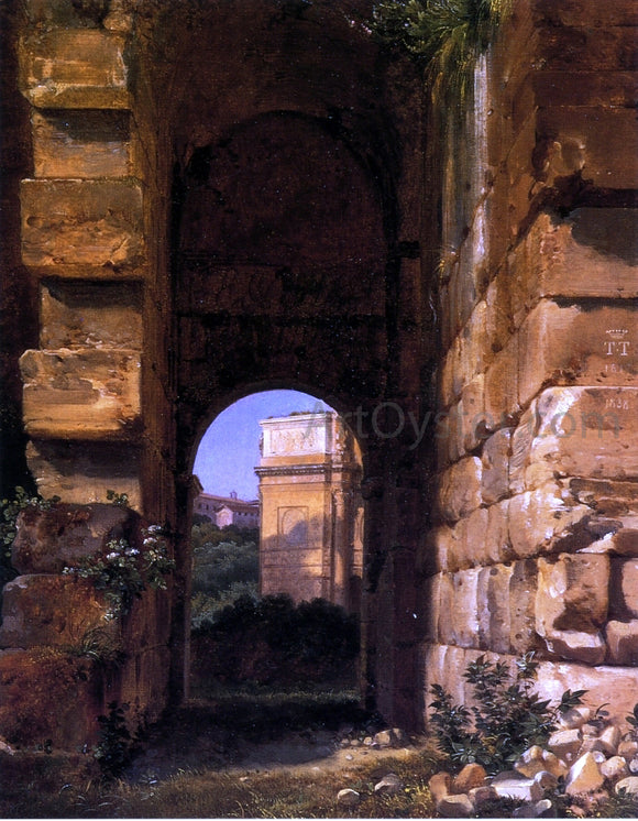 Lancelot-Theodore Turpin De Crisse The Arch of Constantine Seen from the Colosseum - Canvas Art Print