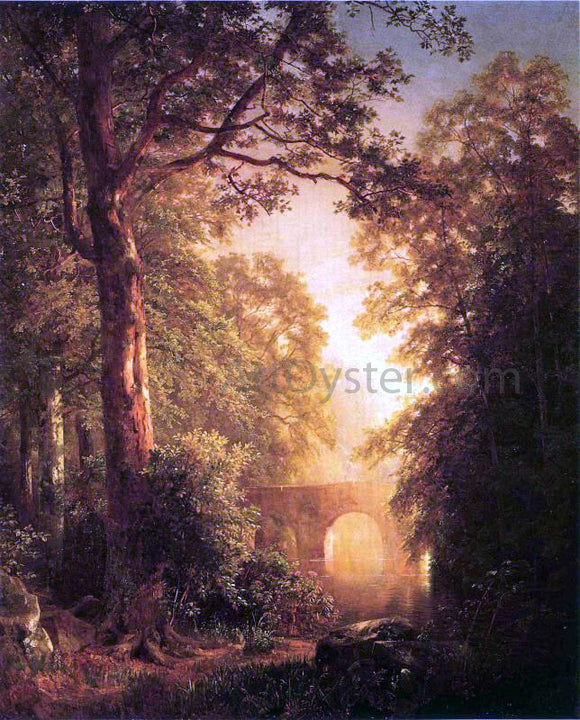 William Trost Richards The Arched Bridge - Canvas Art Print