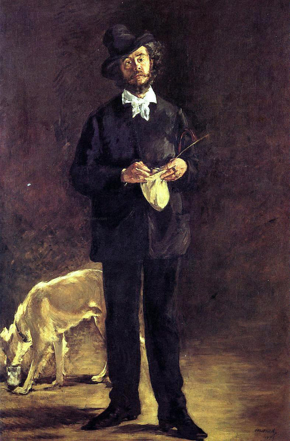 Edouard Manet The Artist - Canvas Art Print
