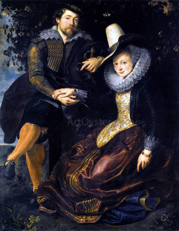 Peter Paul Rubens The Artist and His First Wife, Isabella Brant, in the Honeysuckle Bower - Canvas Art Print