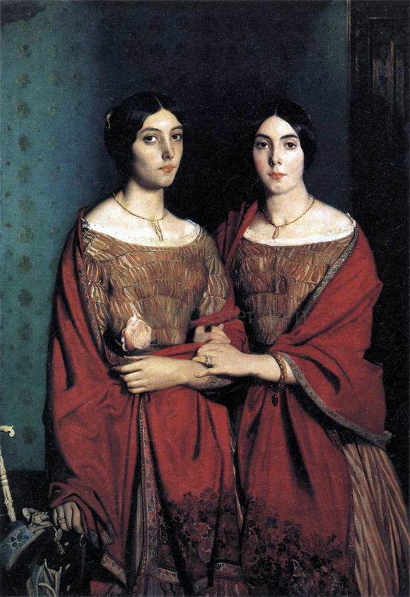 Theodore Chasseriau The Artist's Sisters - Canvas Art Print