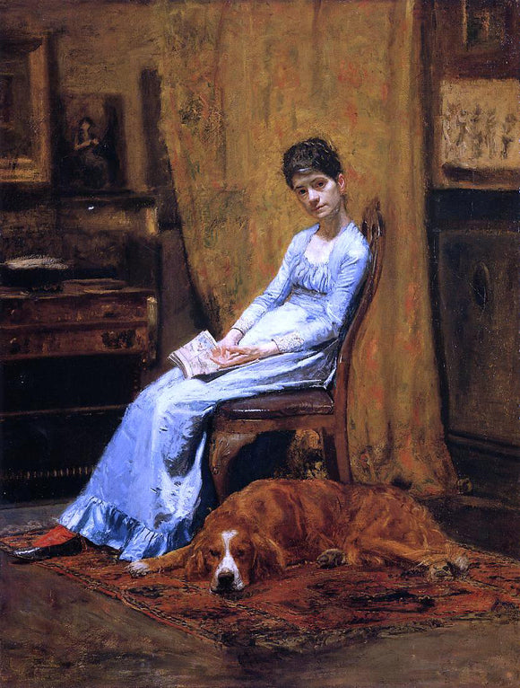 Thomas Eakins The Artist's Wife and His Setter Dog - Canvas Art Print