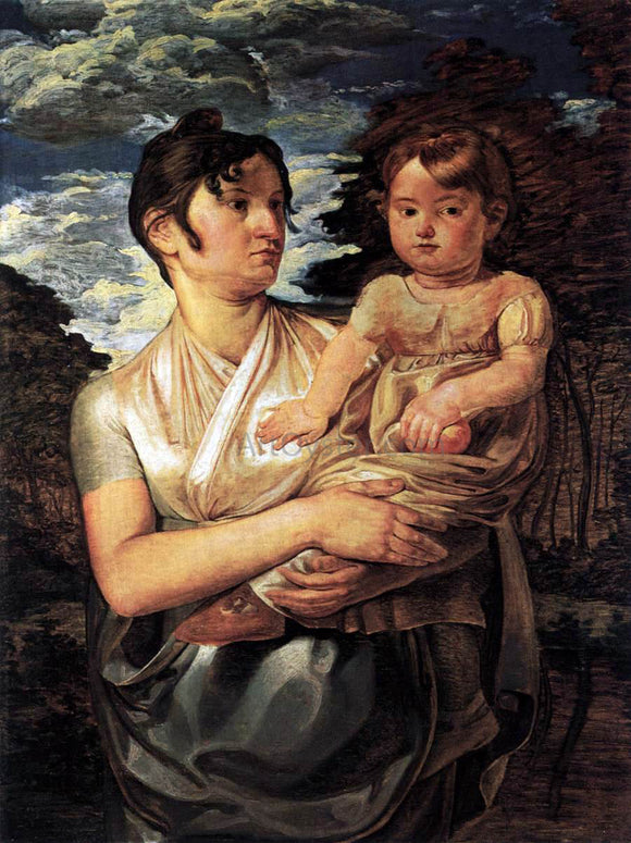 Philipp Otto Runge The Artist's Wife and Son - Canvas Art Print