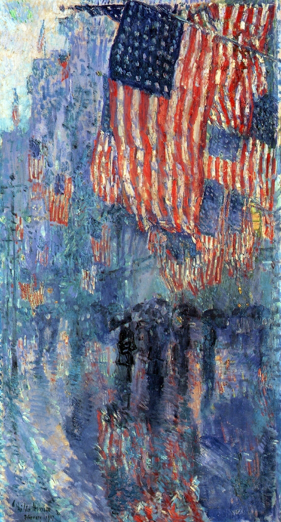 Frederick Childe Hassam The Avenue in the Rain - Canvas Art Print