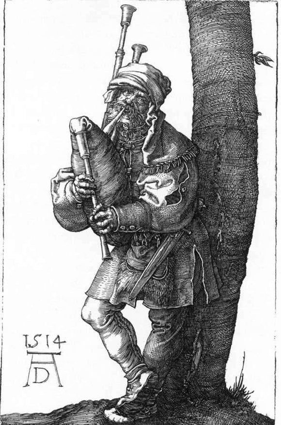 Albrecht Durer The Bagpiper - Canvas Art Print