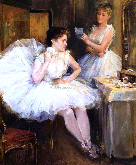 Willard Leroy Metcalf The Ballet Dancers (also known as The Dressing Room) - Canvas Art Print