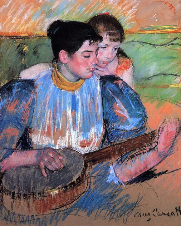 Mary Cassatt A Banjo Lesson - Canvas Art Print