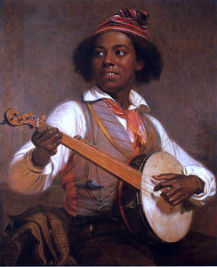 William Sidney Mount The Banjo Player - Canvas Art Print