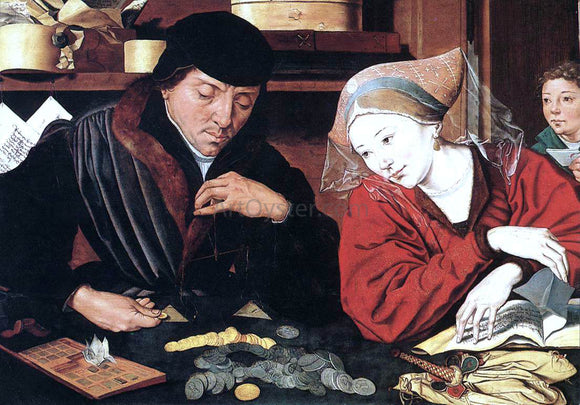 Marinus Van Reymerswaele The Banker and His Wife - Canvas Art Print