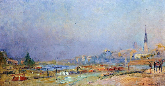 Albert Lebourg The Banks of the Seine at Rouen - Canvas Art Print