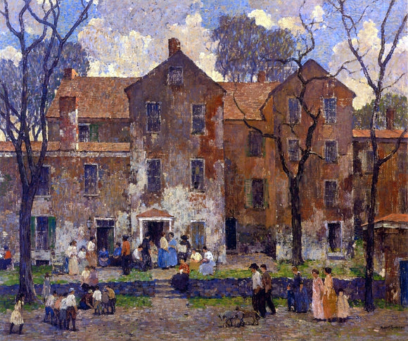 Robert Spencer The Barracks - Canvas Art Print