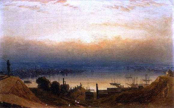 Sanford Robinson Gifford The Basin of the Patapsco from Federal Hill, Baltimore - Canvas Art Print