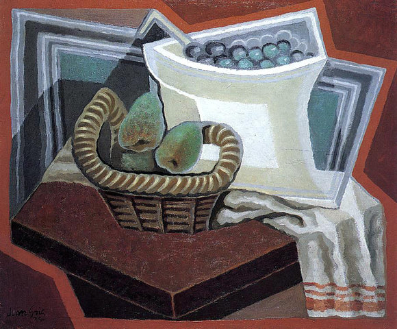 Juan Gris The Basket of Pears - Canvas Art Print