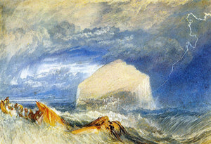 "Joseph William Turner The Bass Rock (for ""The Provincial Antiquities of Scotland"") - Canvas Art Print"