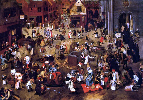 The Younger Pieter Bruegel The Battle Between Lent and Carnival - Canvas Art Print